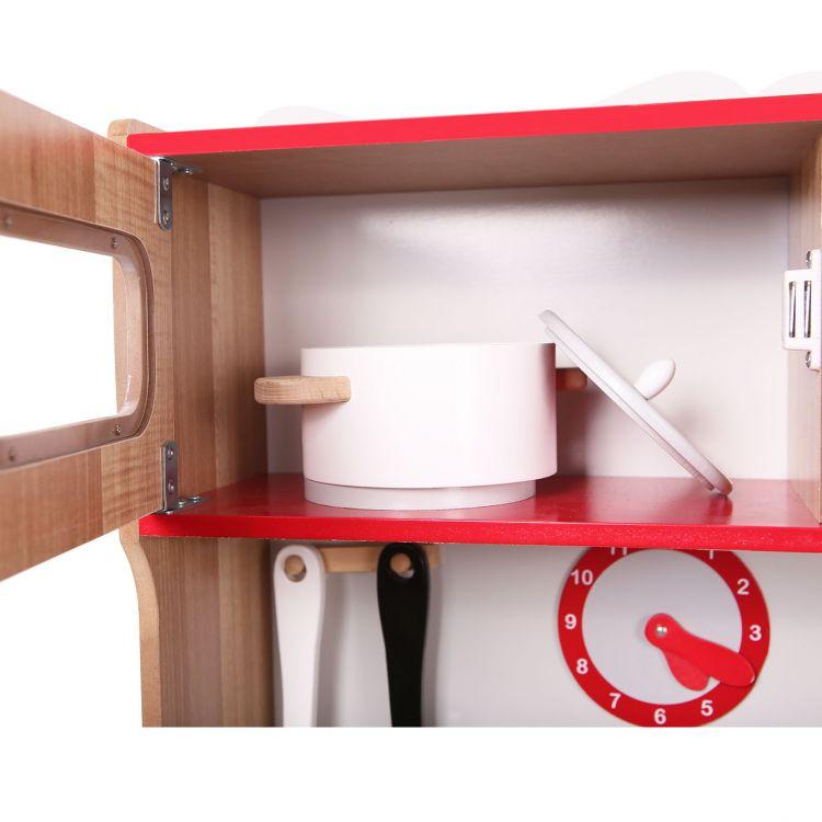 Kuchnia Drewniana Z Wyposażeniem Dla Dzieci Ecotoys