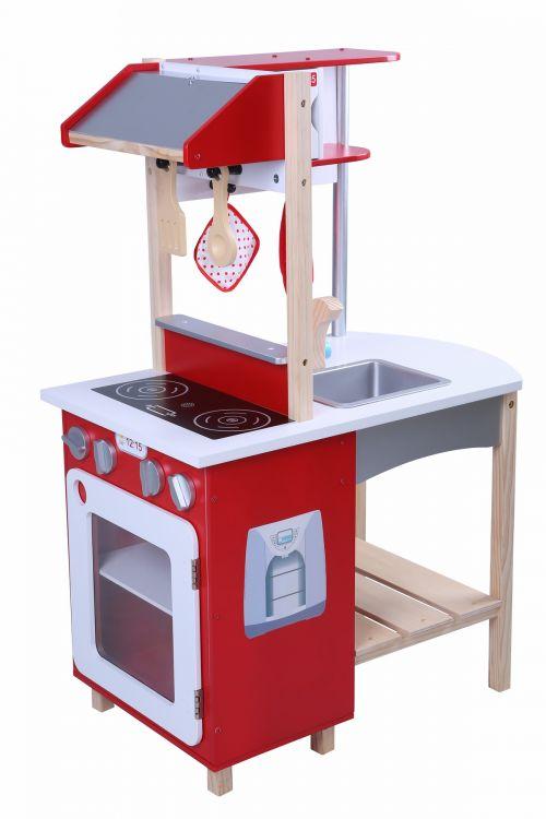 Ecotoys Kuchnia Drewniana Z Wyposażeniem Dla Dzieci